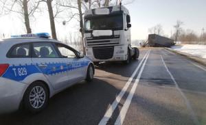 Kierowca ciężarówki Daf był trzeźwy i nie odniósł żadnych obrażeń