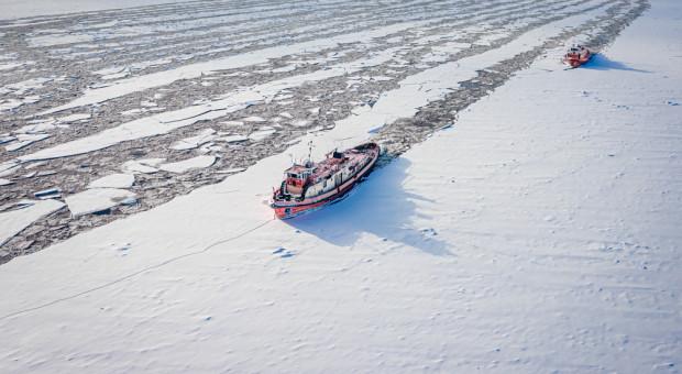 Lodołamacze po rozbiciu zatoru na Zbiorniku Włocławskim dopłynęły do Płocka