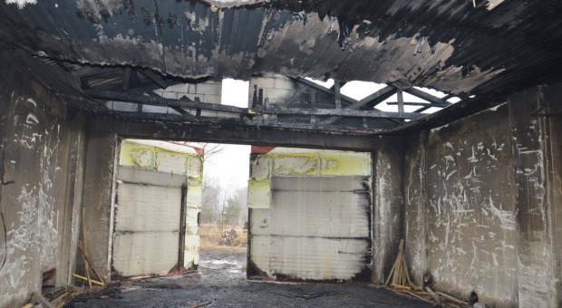Pożar w tartaku pod Zamościem, duże straty