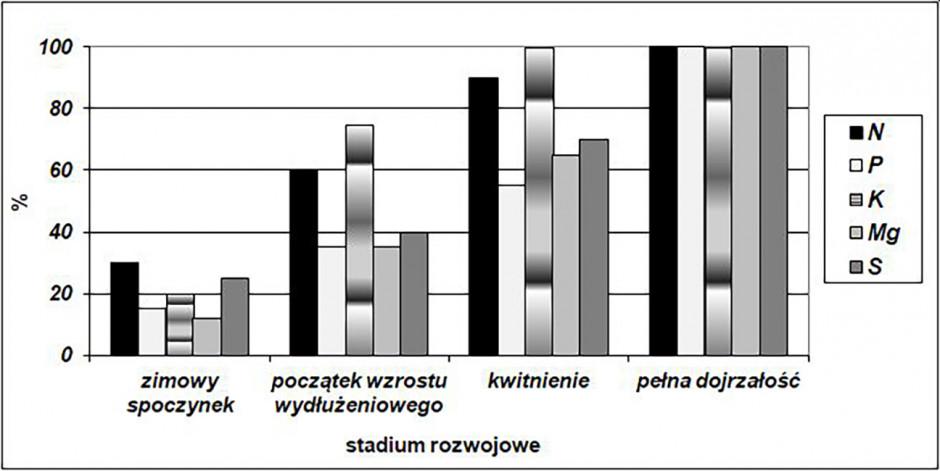 Akumulacja składników mineralnych przez rzepak ozimy wokresie wiosennej wegetacji
