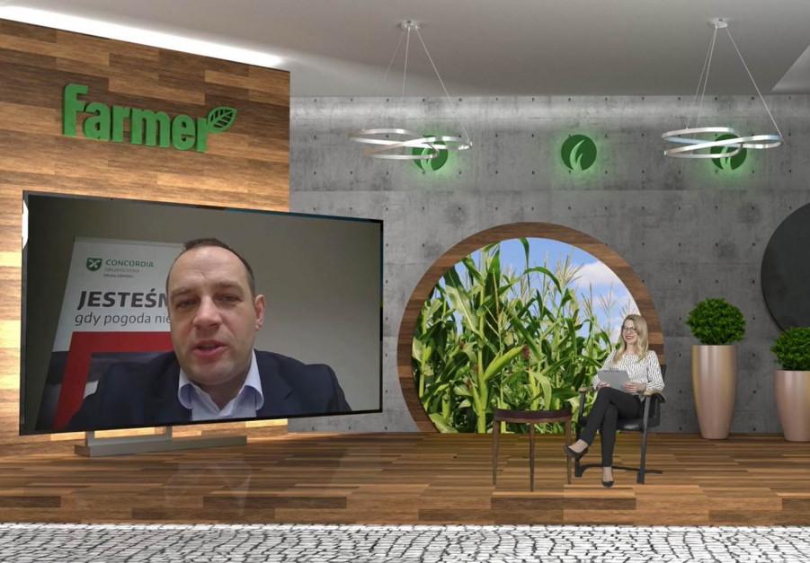 Krzysztof Mrówka, , dyrektor Biura Ubezpieczeń Rolnych, Concordia Polska TU SA. podczas rozmowy na Konferencji Przez Innowacyjność do Sukcesu Online.