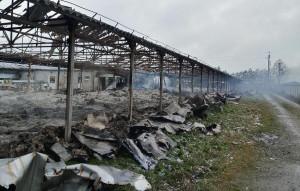 Budynek wykorzystywany na magazyn spłonął doszczętnie