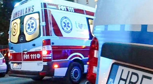 Kobieta ratowała psa, pomóc musieli policjanci i strażacy