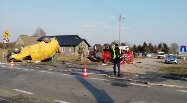 Zderzenie wozu strażackiego z busem