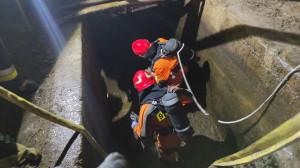 Strażacy musieli pracować w sprzęcie do ochrony dróg oddechowych