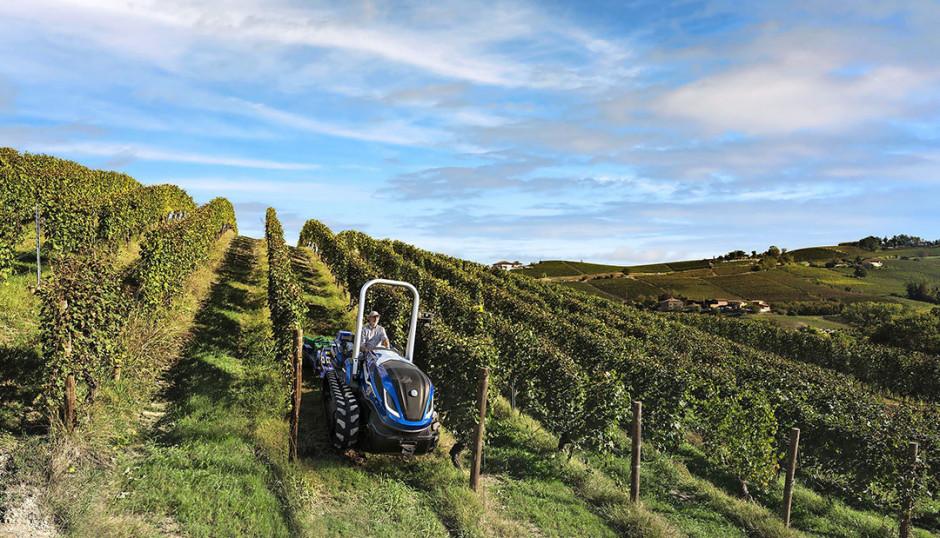 New Holland TK zasilany biogazem testowany jest w winnicach. fot. New Holland