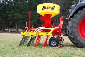 """Wbogatej ofercie firmy APV są dostępne """"gotowe"""" agregaty  do kompleksowej pielęgnacji: podsiewu traw ispulchniania"""