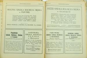 Ogłoszenia o naborach do szkół rolniczychz 1932 r.