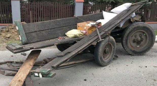 Woźnica zmarł po zderzeniu z samochodem