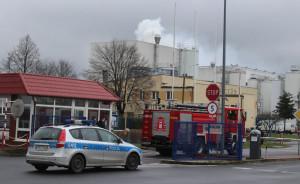 Gostyńska mleczarnia poniosła w pożarze milionową stratę, fot. KP PSP Gostyń