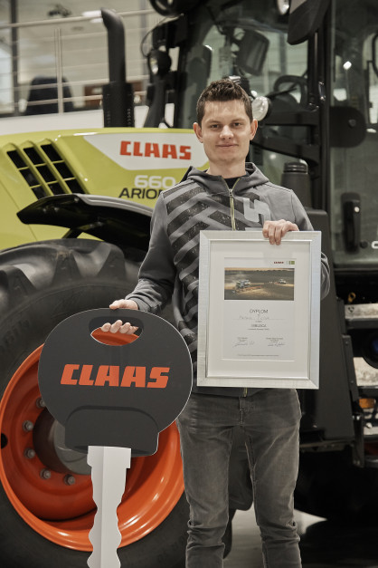 Pan Mateusz, zwycięzca wyzwania Claas CEMOS, fot. Claas