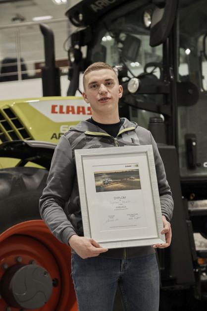 Pan Szymon, finalista wyzwania Claas CEMOS, fot. Claas