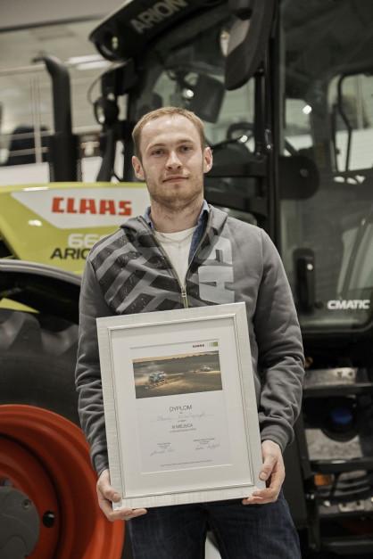 Pan Maciej, finalista wyzwania Claas CEMOS, fot. Claas