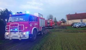 W działaniach gaśniczych uczestniczyło 8 zastępów strażaków z PSP i OSP, fot. OSP Słupica