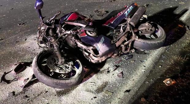 Po zderzeniu z traktorem zginął motocyklista