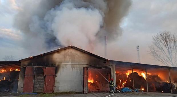 Dzieci bawiły się zapalniczką – spłonęła hala ze słomą i maszynami