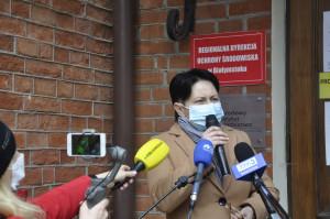 Dyrektor Regionalnej Dyrekcji Ochrony Środowiska, Beata Bezubik i poparła stanowisko rolników oraz przyjęła postulaty protestujących rolników. Foto. RZ