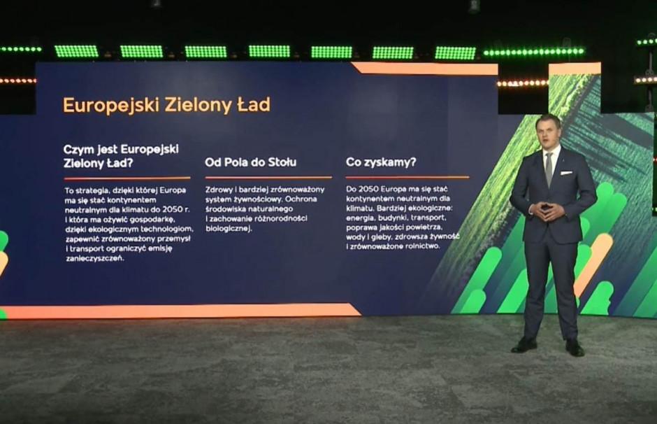 O Europejskim Zielonym Ładzie i wpływie tych założeń na polskie rolnictwo oraz strategię firmy mówił Wojciech Babski, Prezes Zarządu Ciech Sarzyna i szef biznesu AGRO w Grupie Ciech Fot. AK