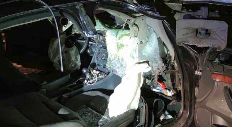 Audi najechało na autocysternę z mlekiem