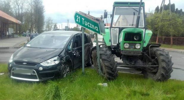 Pijany traktorzysta spowodował kolizję