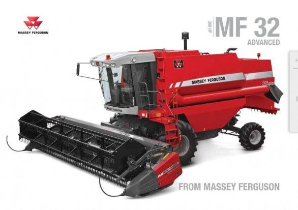 MF 32 to kombajn mocy 200 KM oferowany w Afryce i na Bliskim Wschodzie fot. Massey Ferguson