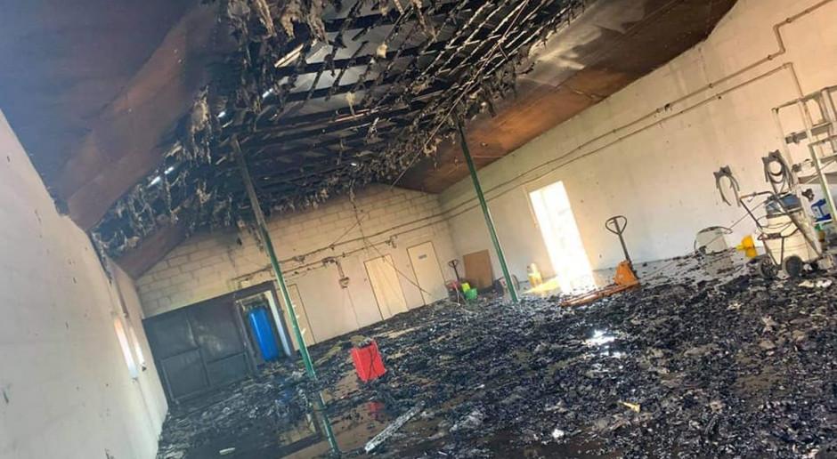 Pożar na kurzej fermie pod Żurominem