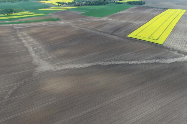 Ryc. 3. Wyraźnie widoczne miejsca zamulenia gleby, skutek przemieszczania się osadów. /fot. Dawid Chwirot, VH Polska