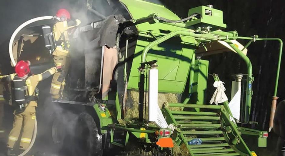 Pożary maszyn rolniczych - paliły się prasa, ciągnik i rorzutnik