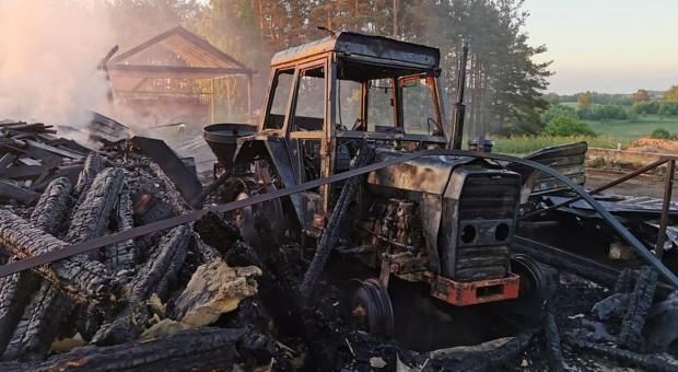 Spłonęły budynki i maszyny rolnicze
