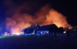 Pożar wybuchł w środku nocy, fot. OSP Raduń
