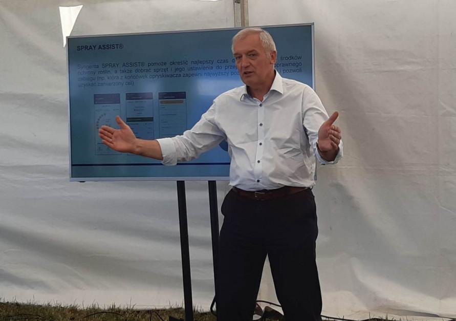 Marek Łuczak, prezes Zarządu firmy Syngenta, odpowiedzialny za segment środków ochrony roślin w Europie Centralnej Fot, A. Kobus