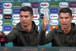 "Cristiano Ronaldo przeciwko Coca-Coli: ""Pijcie wodę!"""