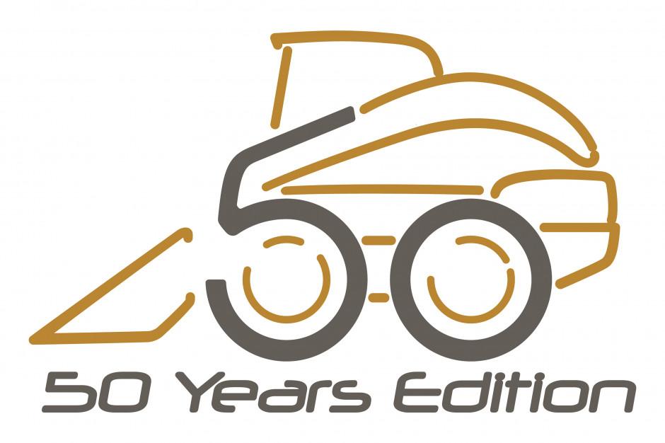 Logo upamiętniające 50-lecie ładowarek burtowych New Holland fot. New Holland