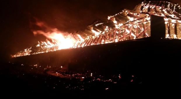 Wielki pożar we wsi Nowa Biała - 100 osób bez dachu nad głową