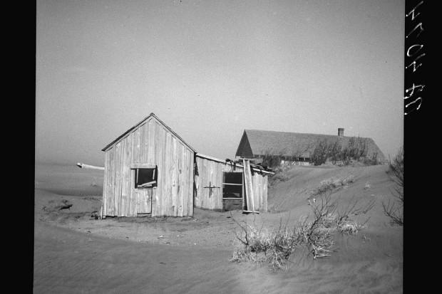 Porzucone gospodarstwo. Oklahoma, 1936. Fot. A. Rothstein/Library of Congress
