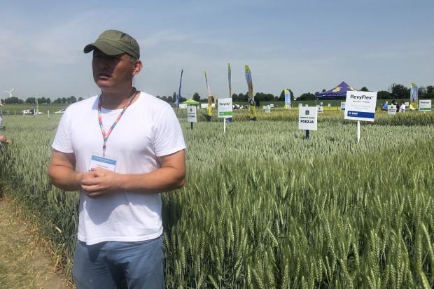 Hodowca dr Przemysław Matysik opowiedział o niezwykle popularnej odmianie pszenicy ozimej, Euforii (fot. JŚ-S).