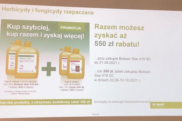 Oferta promocyjna na zakup herbicydów i fungicydów rzepaczanych od BASF (fot. JŚ-S).