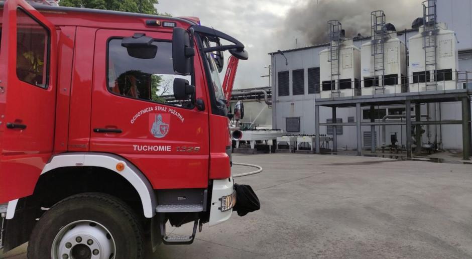 Pożar biogazowni na Pomorzu