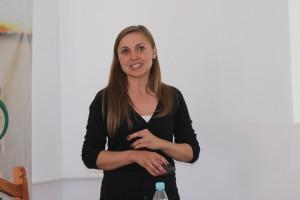 Joanna Mączyńska-Sęczek przedstawiła system wspierający zarządzanie produkcją roślinną , fot.Ł.Ch..JPG