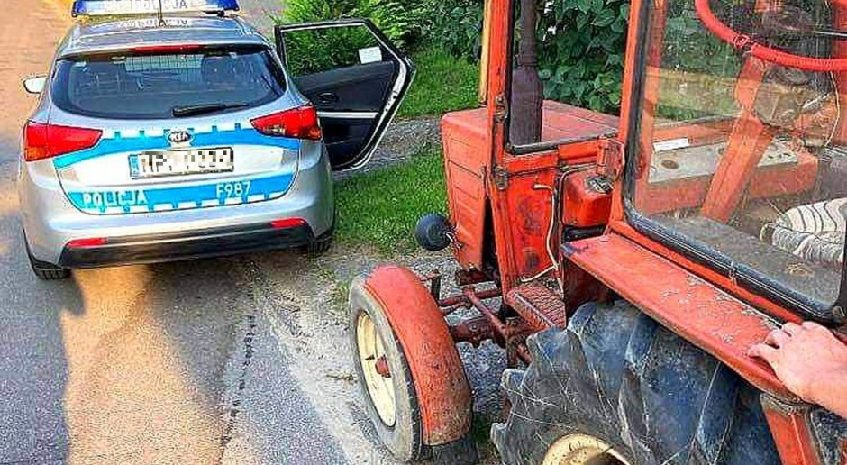 Pijany traktorzysta z dożywotnim zakazem