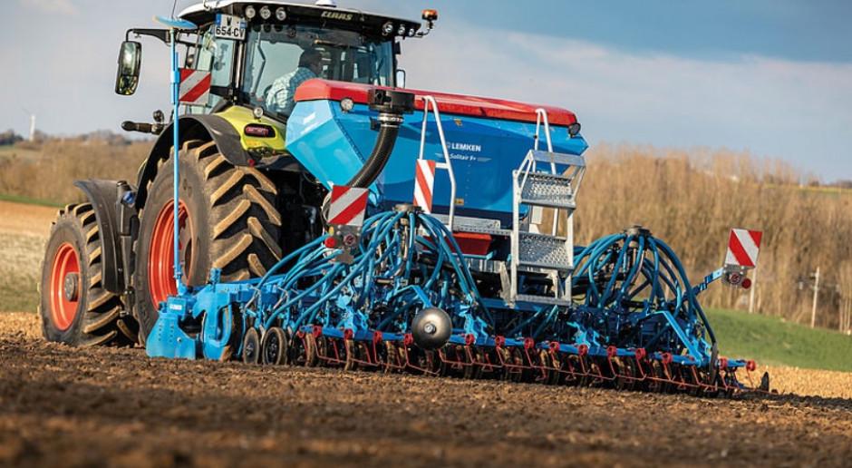 Lemken Solitair 9+ Duo w wersji z dzielonym zbiornikiem na nasiona