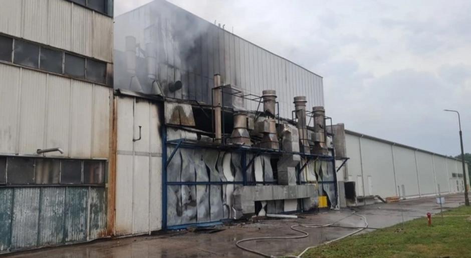 Łódzkie: Pożar w zakładach przetwórstwa ziemniaczanego w Głownie
