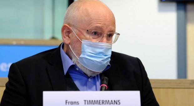 Timmermans: Chcemy, żeby ludzkość uniknęła wojen o wodę i pożywienie