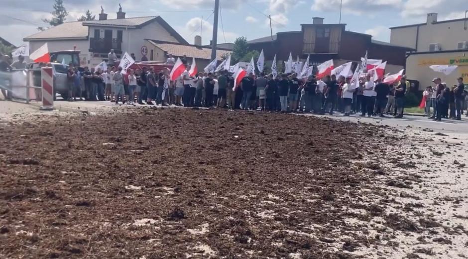 Zakończenie protestu rolników w Srocku. fot. FB AGROunia