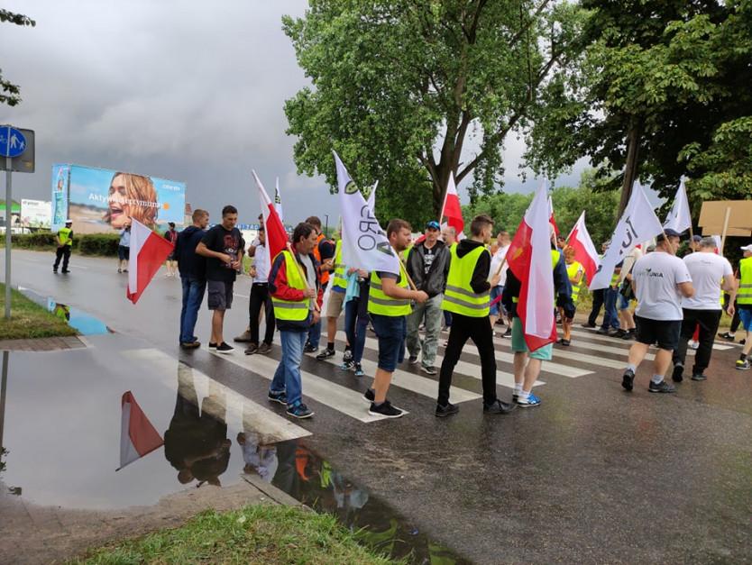 Protest rybaków potrwa do godziny 16 Fot. czytelnik