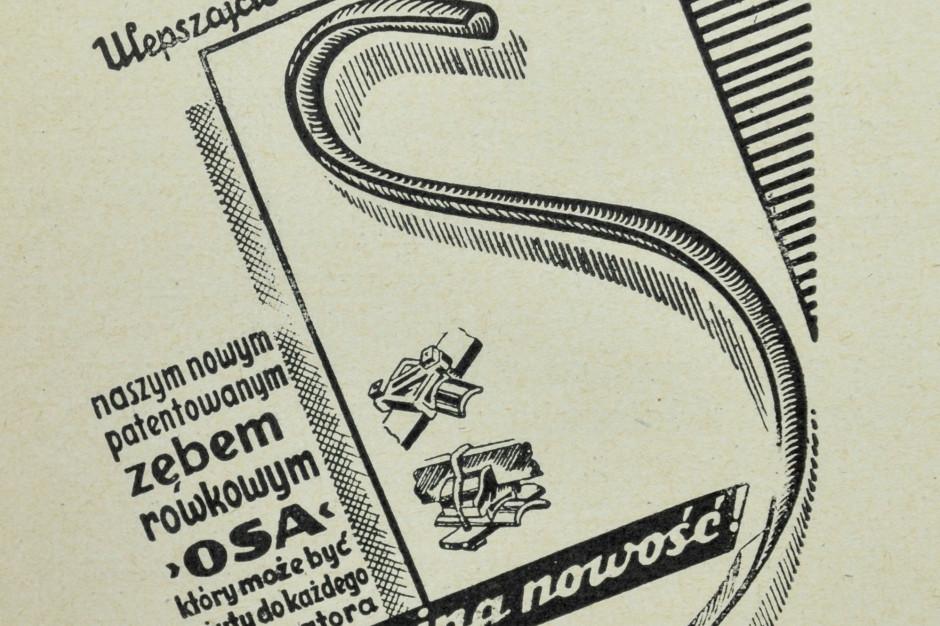 Przedwojenna reklama Unii-Ventzki SA Grudziądz –zęby iich mocowanie używane sądo dziś