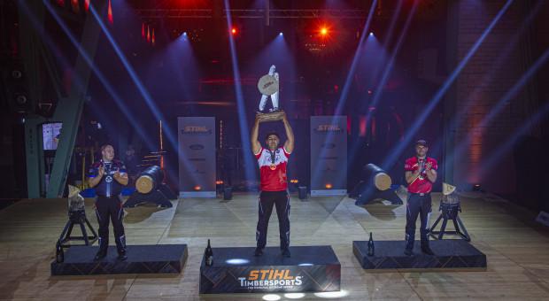 Polak zwyciężył w międzynarodowych zawodach w sportowym cięciu i rąbaniu drewna