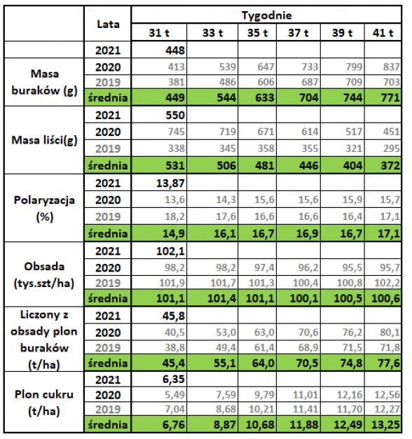 Badania prowadzone są w wybranych gospodarstwach we wszystkich rejonach plantacyjnych Südzucker. 31 tydzień od siewu. Źródło: Südzucker.