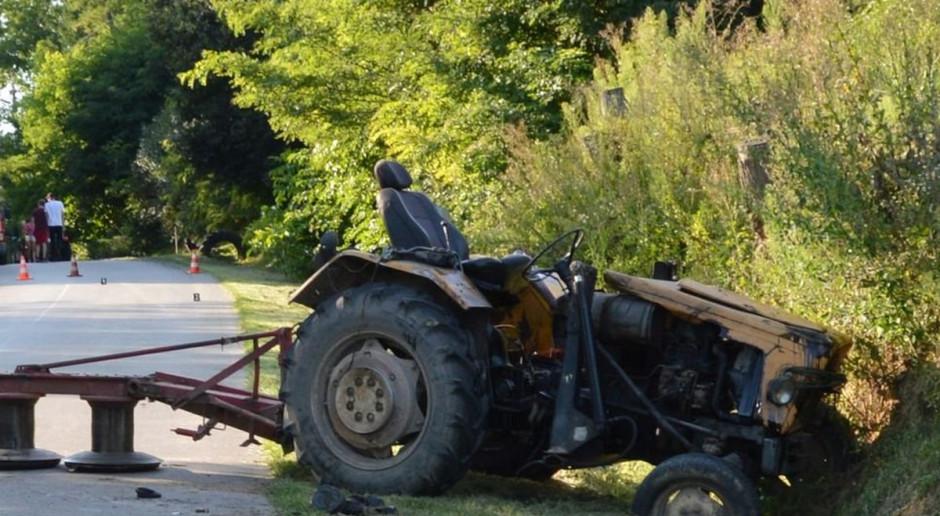 BMW staranowało traktor
