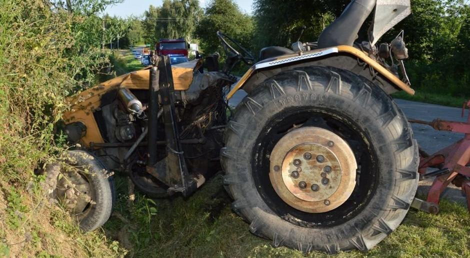 Tragiczny wypadek z udziałem ciągnika rolniczego